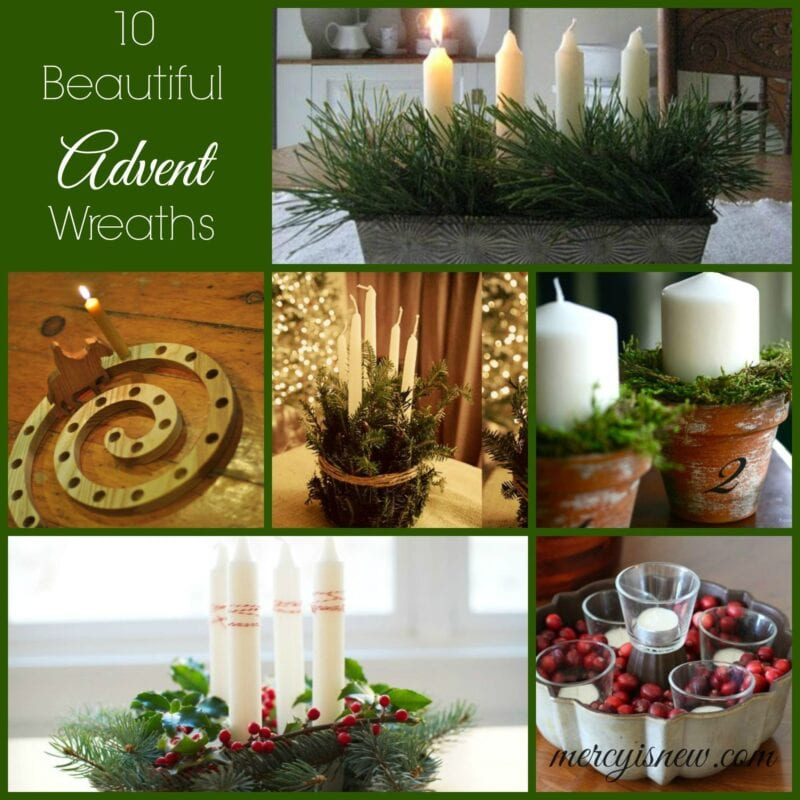 10 Beautiful Advent Wreaths