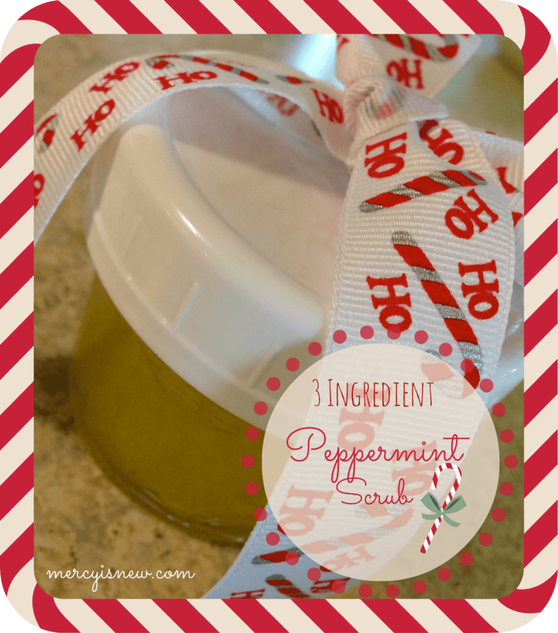 3 Ingredient Peppermint Scrub @mercyisnew.com