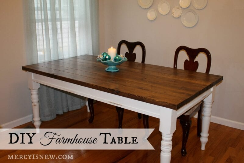 DIY Farmhouse Table @mercyisnew.com