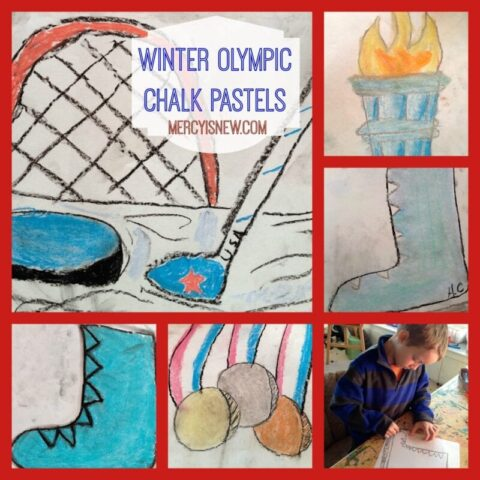 Examples of our Winter Olympic Chalk Pastels @mercyisnew.com
