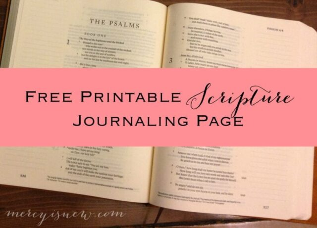 Free Printable Scripture Journaling Page  MercyIsNew.com