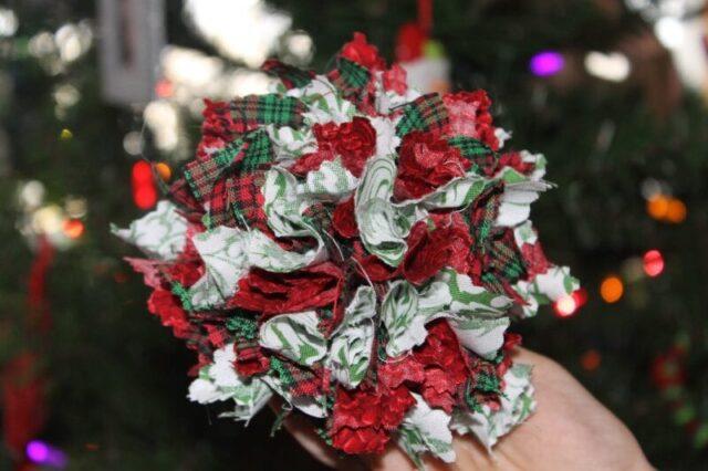simple fabric ornament