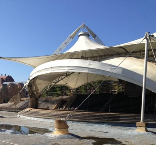 Amphitheater at World's Fair Park in Knoxville, TN @mercyisnew.com