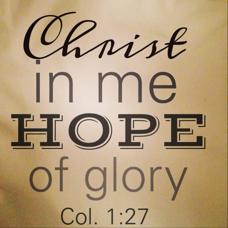 Image result for christ in me the hope of glory