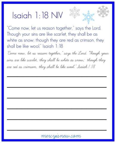 Isaiah 1 Copywork from @mercyisnew.com