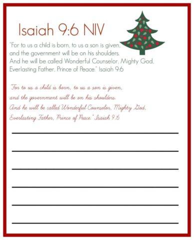 Isaiah 96 copywork