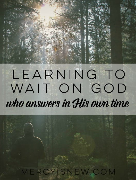 Learning to Wait on God who answers in His own time