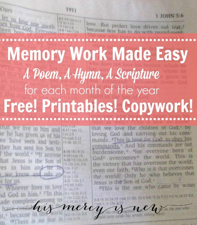Memory Work Made Easy Graphic