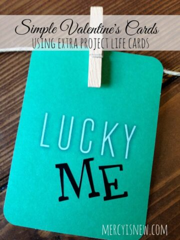 More Simple Valentine's Cards using EXTRA Project Life cards @mercyisnew.com