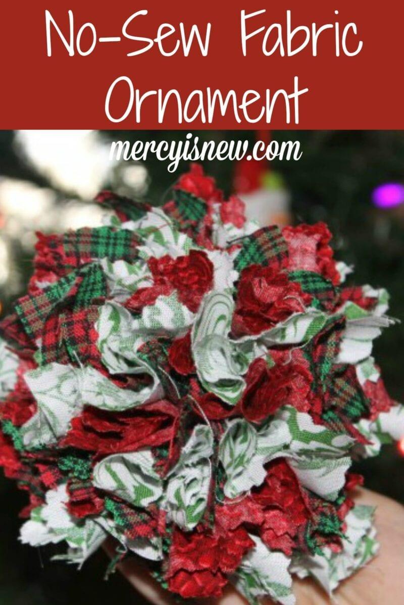 No Sew Fabric Ornament
