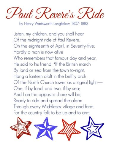 Paul Revere's Ride ~ memory work made easy @mercyisnew.com
