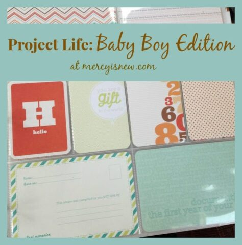 Project Life Baby Boy Edition @mercyisnew.com