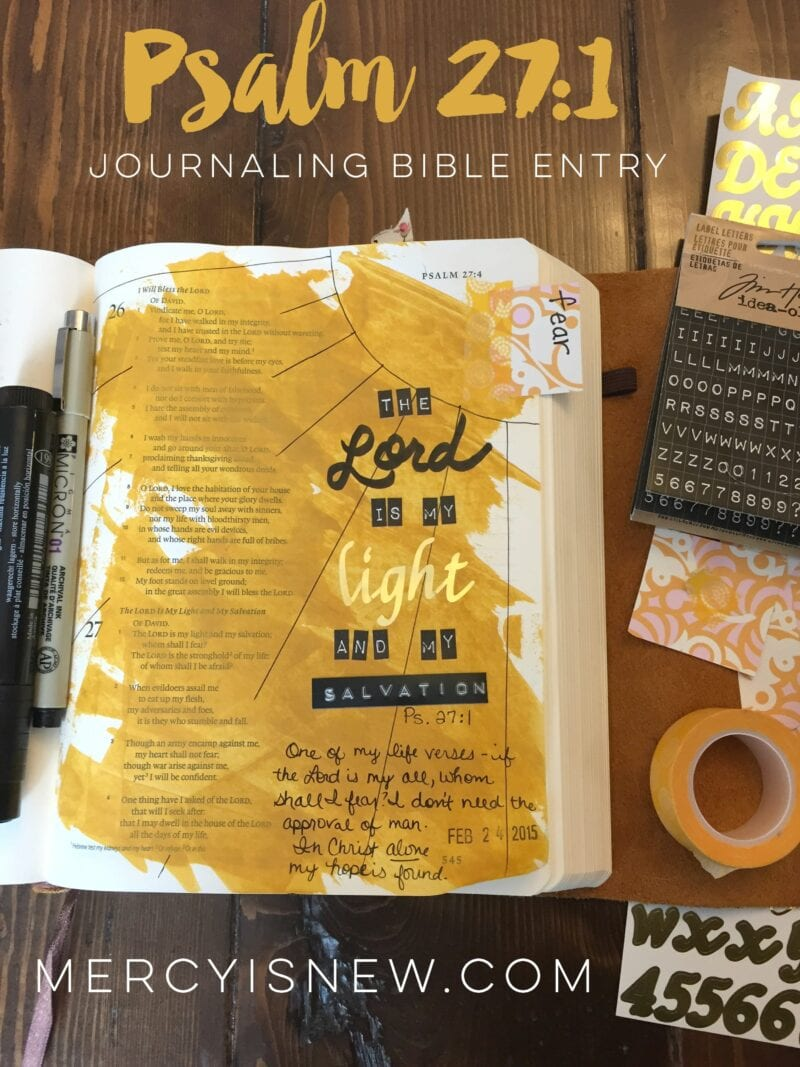Psalm 27 Journaling Bible Entry 2