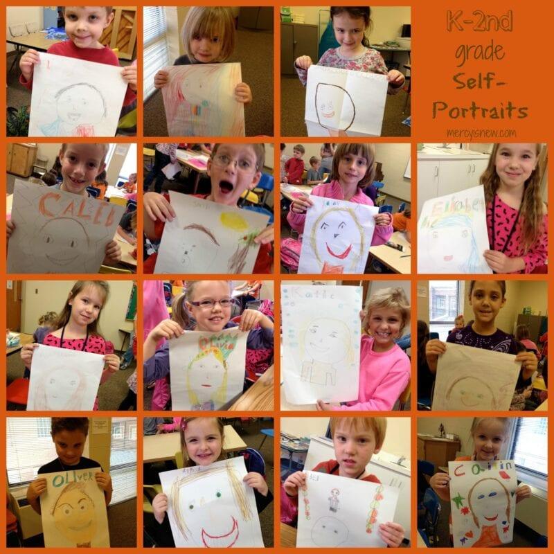 Self Portraits 2 from Teaching Art Series @mercyisnew.com