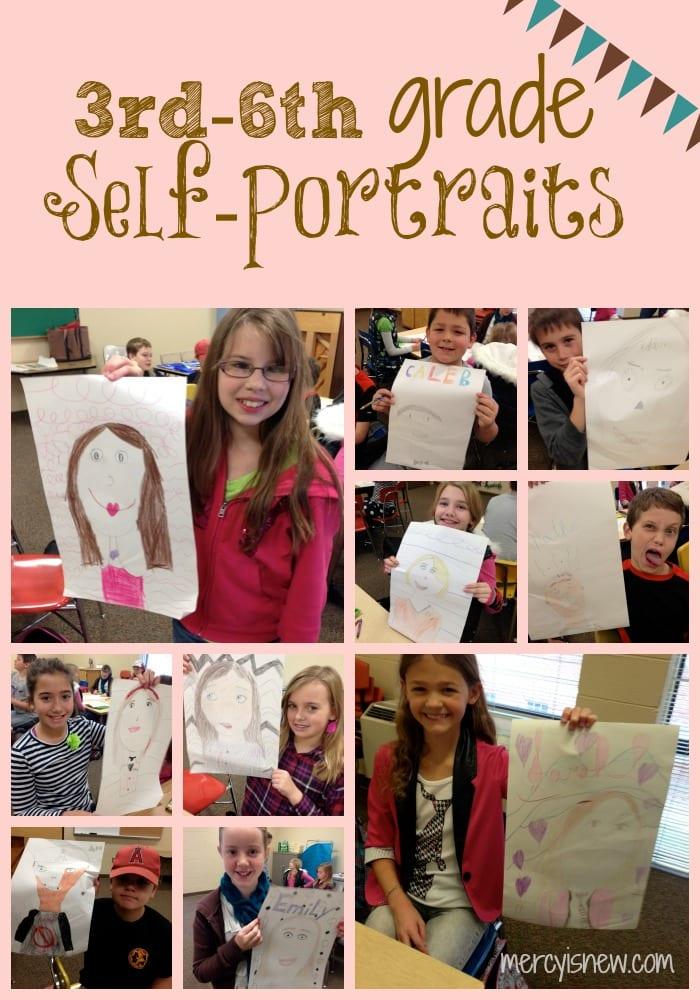 Self-Portraits from Teaching Art series @mercyisnew.com