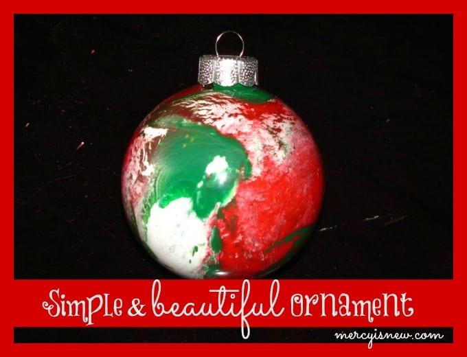 Simple & beautiful Ornament @mercyisnew.com