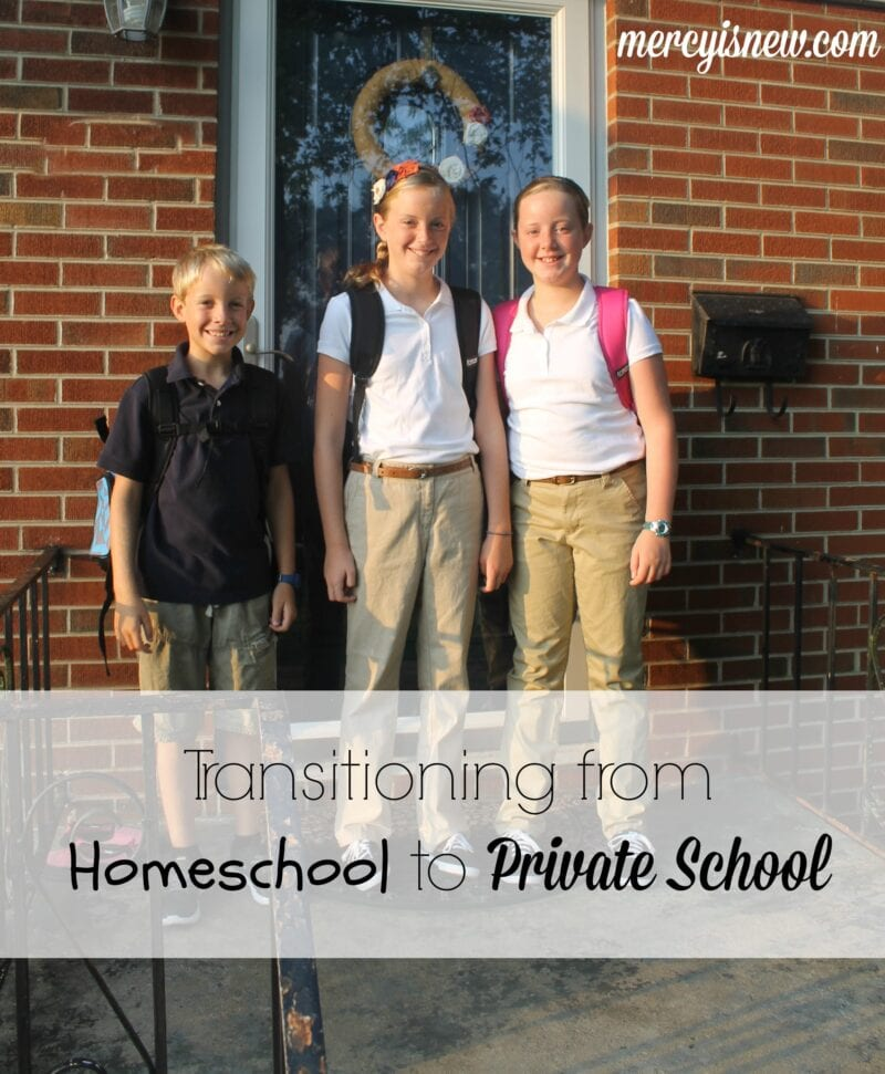 Transitioning from Homeschool to Private School