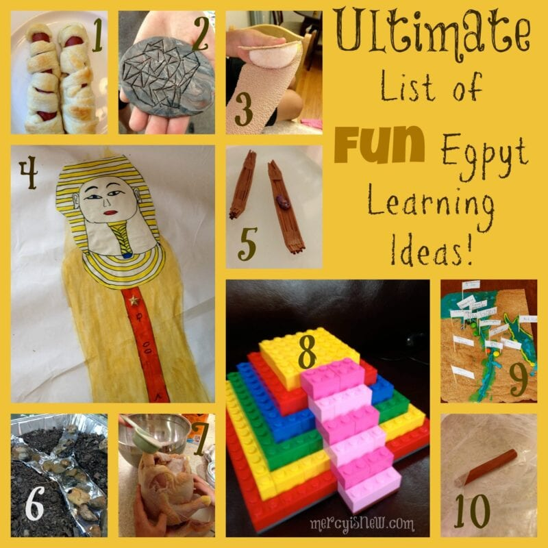 Ultimate List of FUN Egypt Learning Ideas @mercyisnew.com