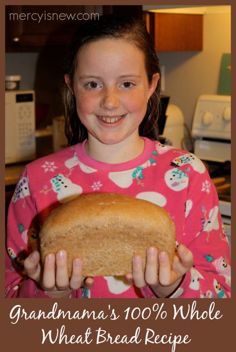 Whole Wheat Bread Recipe @mercyisnew.com