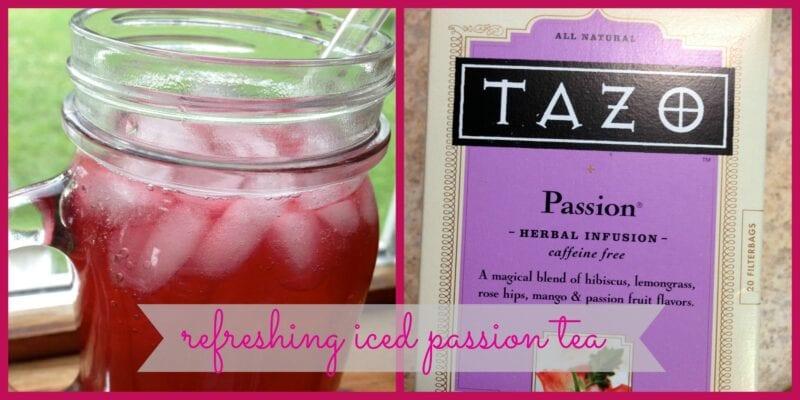 refreshing iced passion tea
