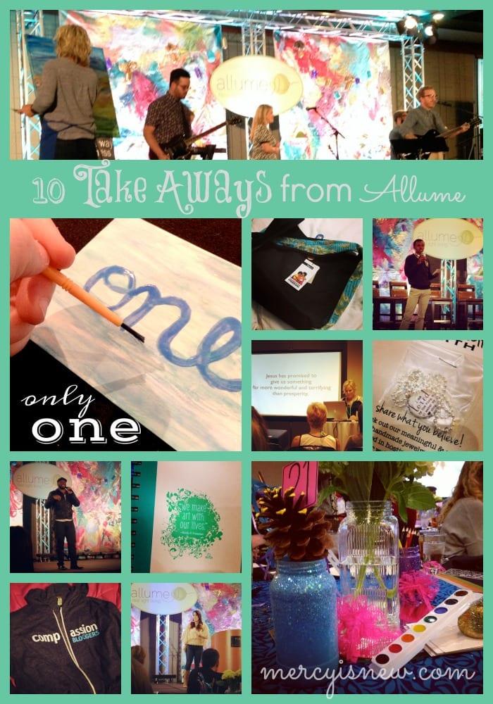 10 Take Aways from Allume @mercyisnew.com