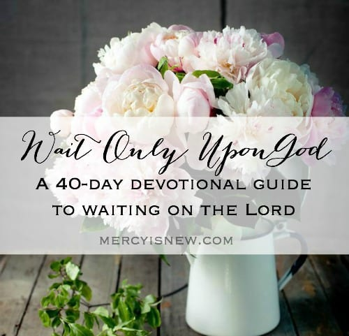 Waiting on God 40 Day Devotional | MercyIsNew.com