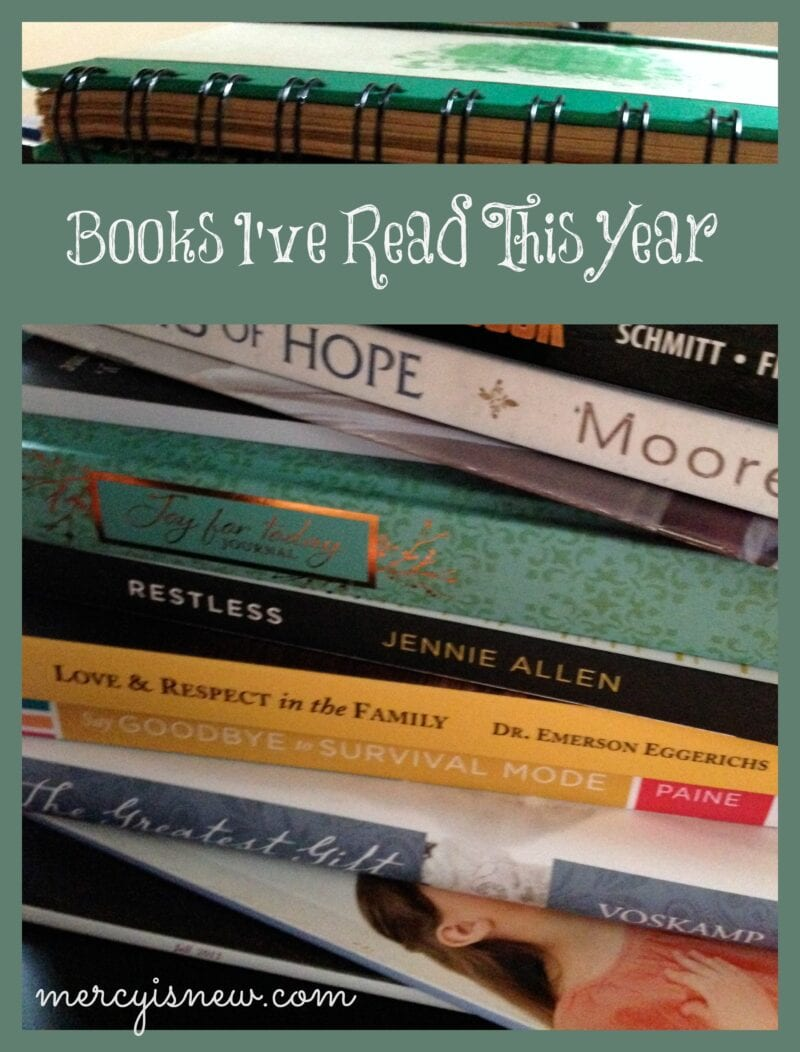 Books I've Read This Year @mercyisnew.com