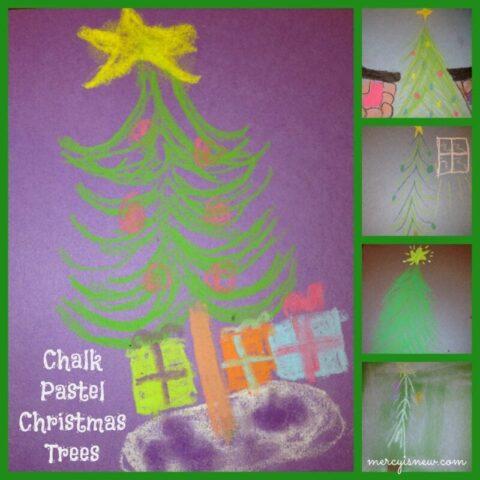 Chalk Pastel Christmas Trees @mercyisnew.com