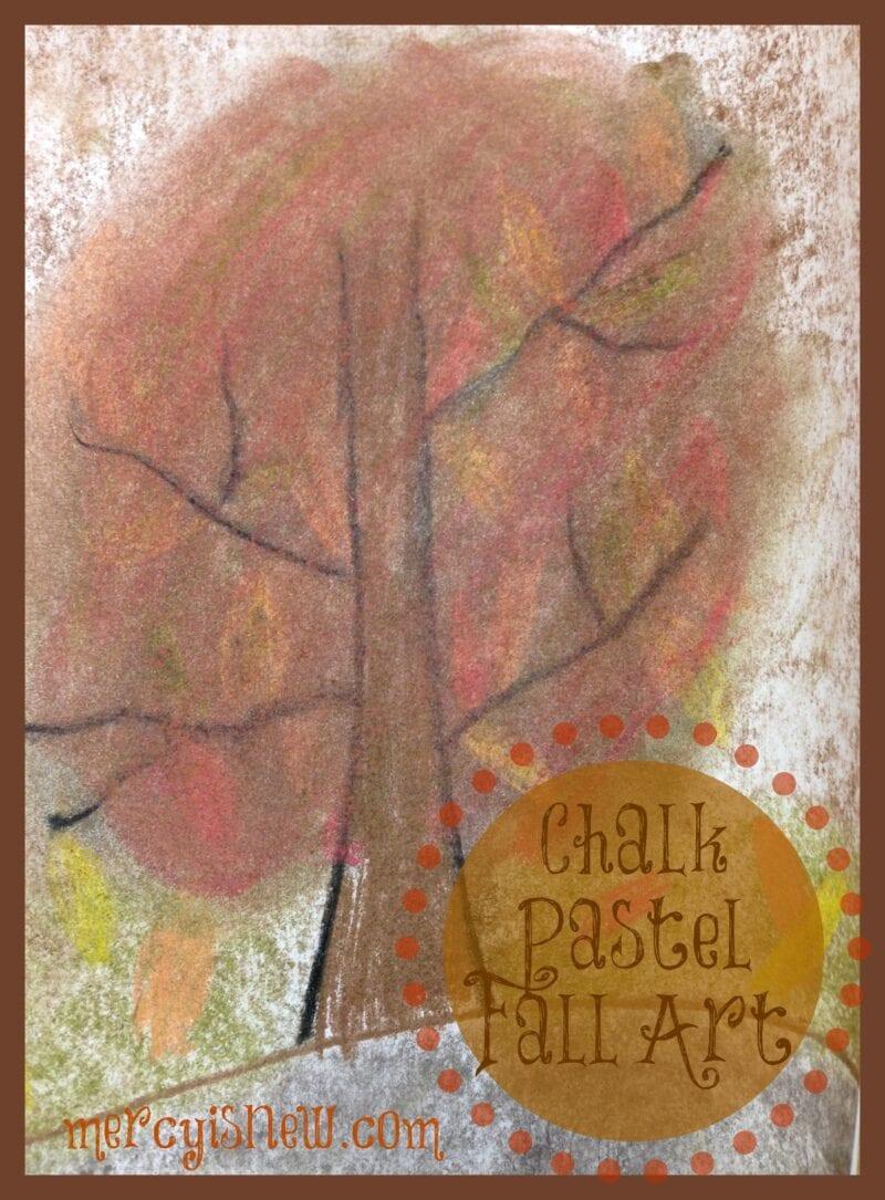 Chalk Pastel Fall Art @mercyisnew.com
