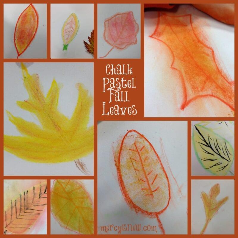 Chalk Pastel Fall Leaves @mercyisnew.com