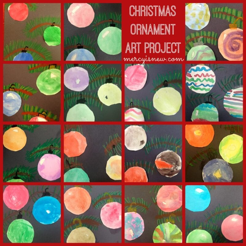 Christmas Ornament Art Project @mercyisnew.com