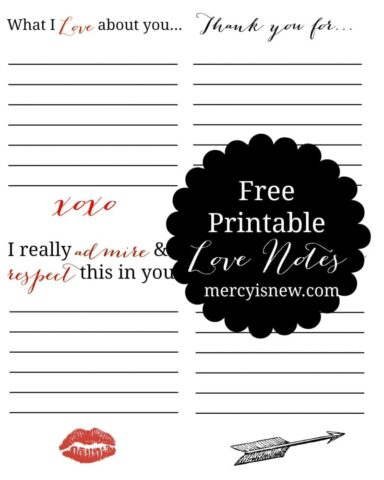 Free Printable Love Notes GRAPHIC
