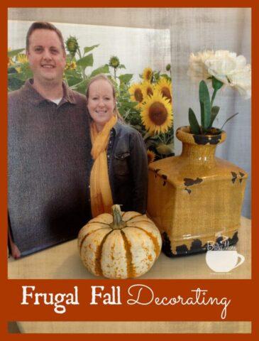Frugal Fall Decorating @thebusymom.com