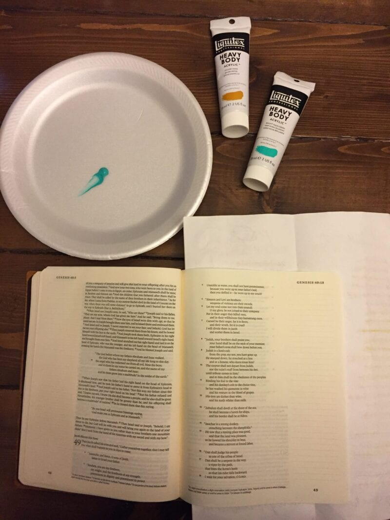 Using Paint in Journaling Bible