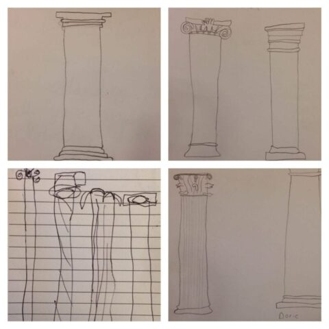 Learning Types of Columns from Greek & Roman Architecture @mercyisnew.com