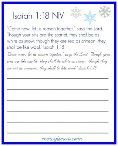 Isaiah 1 Copywork from @mercyisnew.com