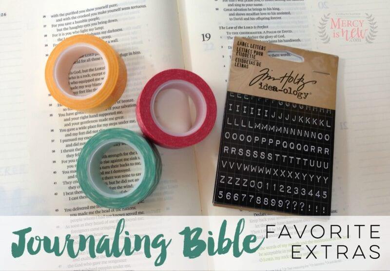 Journaling Bible Favorite Extras