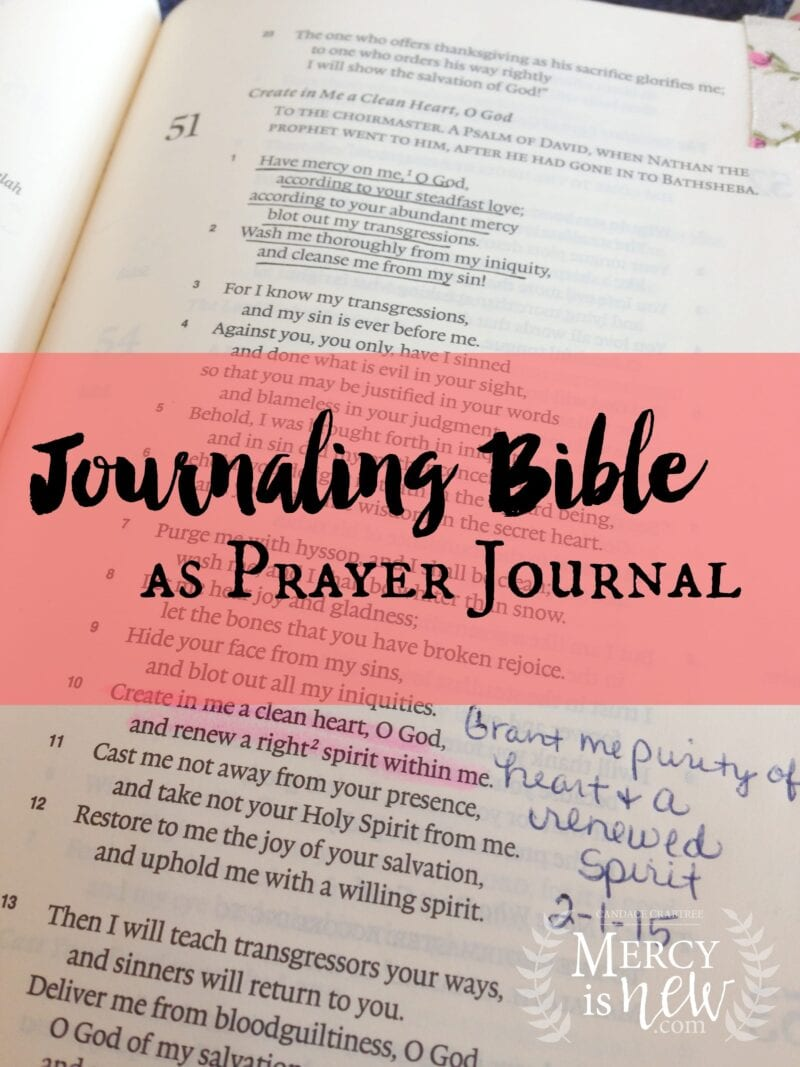 Journaling Bible as Prayer Journal