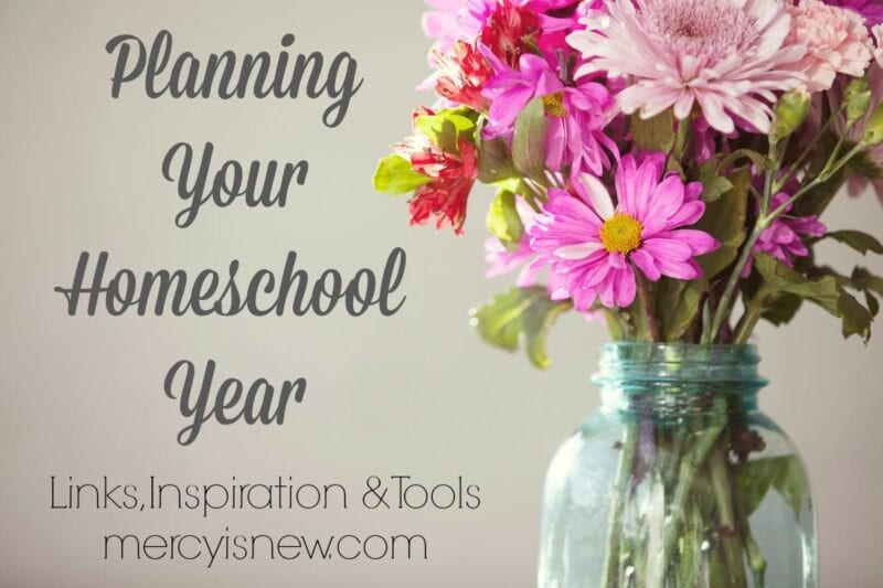 Planning Your Homeschool Year @mercyisnew.com