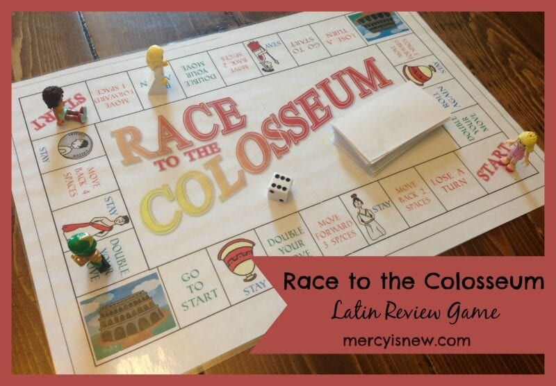 Race to the Colosseum Latin Review Game @mercyisnew.com
