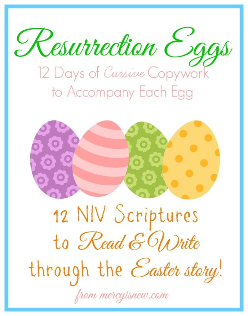 Resurrection Eggs Copywork Cover