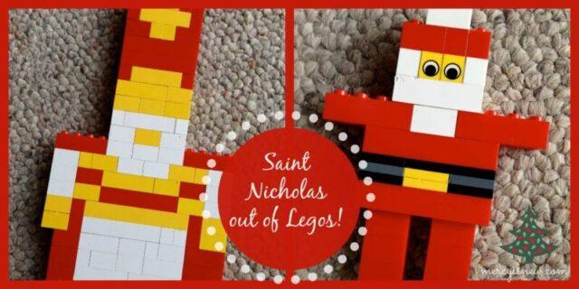 Saint Nicholas out of Legos @mercyisnew.com