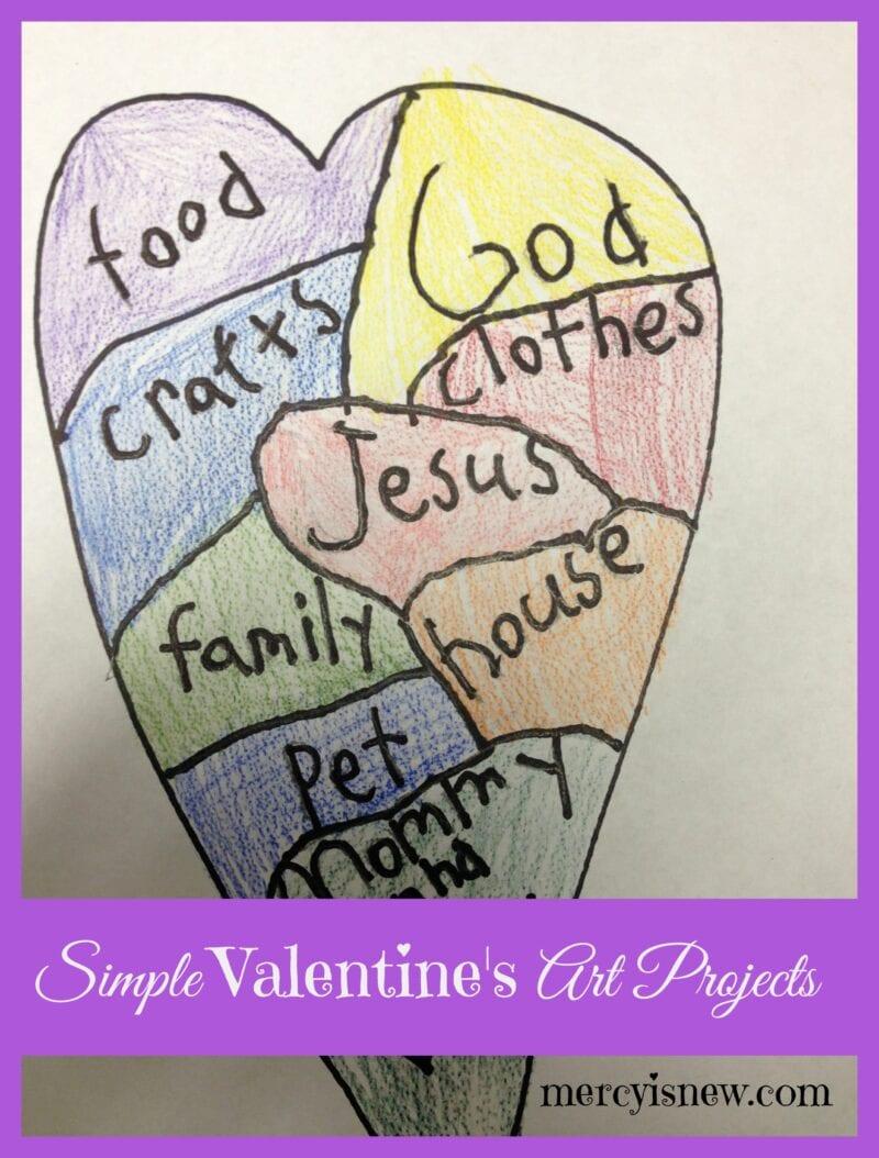Simple Valentine's Art Projects @mercyisnew.com