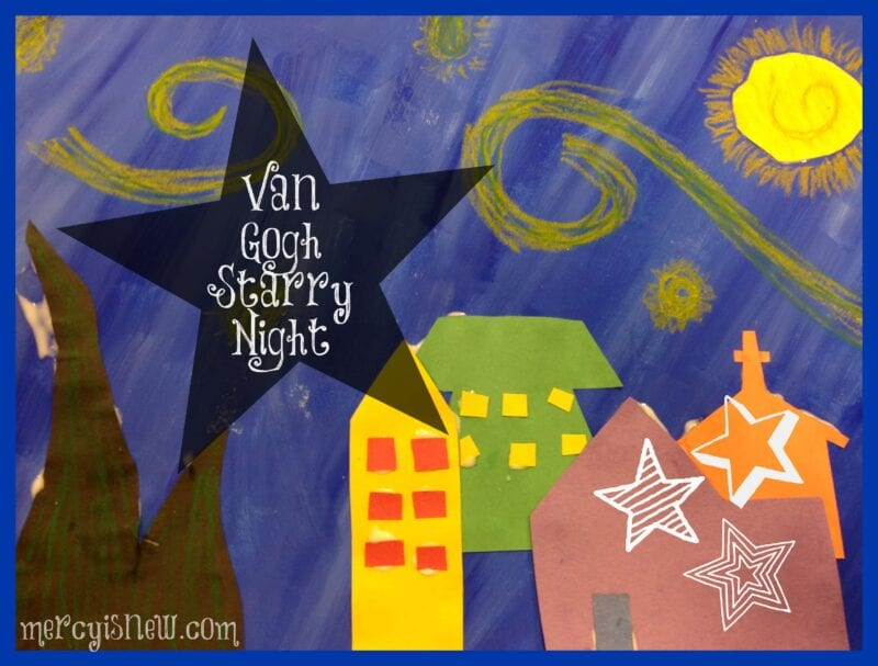 Starry Night Art Project for Kids @mercyisnew.com