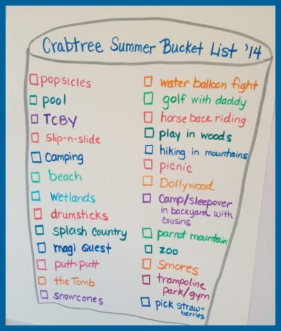 Summer Bucket List @mercyisnew.com