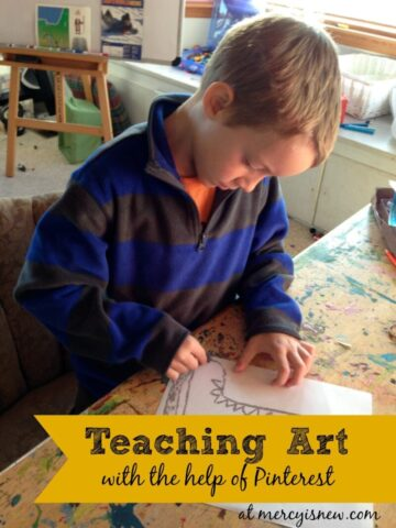 Teaching Art with the Help of Pinterest @mercyisnew.com