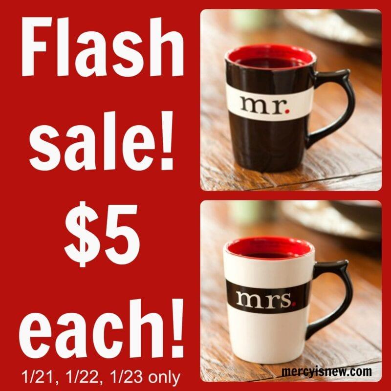 Valentine Flash Sale $5 mugs @mercyisnew.com