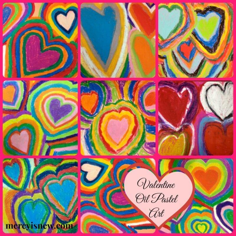 Valentine Oil Pastel Art @mercyisnew.com
