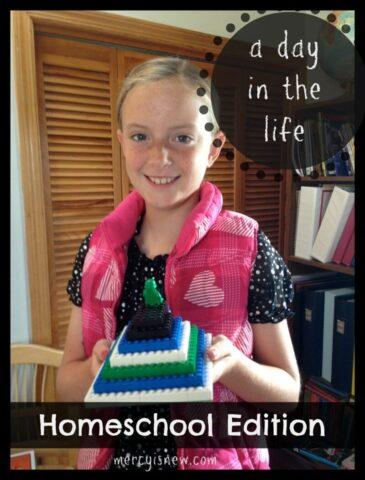 A Day in the Life ~ Homeschool Edition @mercyisnew.com