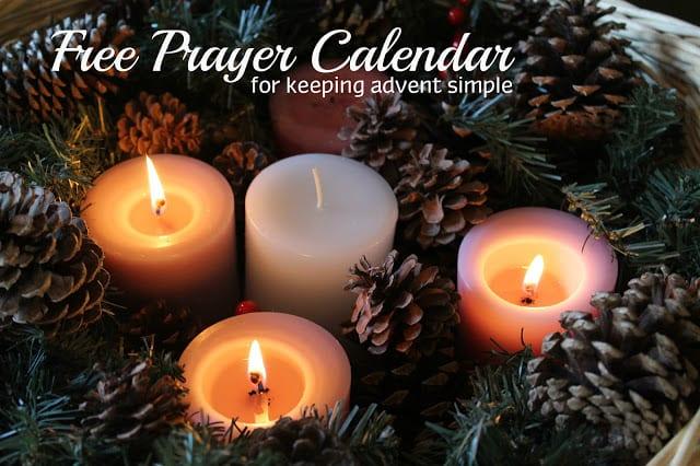 Free Advent {Simplicity} Prayer Calendar @mercyisnew.com